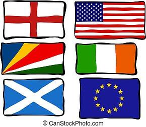 tchórzliwy, bandery