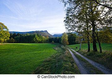 tcheco, jizera, república, montanhas