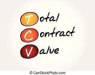 tcv, -, contrat, acronyme, valeur, total