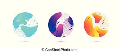 tečkovat, design., ilustrace, vektor, shapes., zaměstnání,...