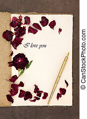te amo, carta