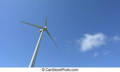 Te Apiti Wind Farm in Palmerston North, New Zealand -...