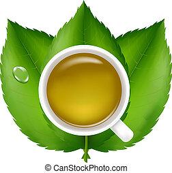 te, grön