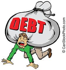 te (veel), debt.