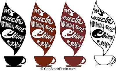 te (veel), maandag, niet genoeg, koffie