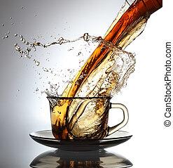 tea, öntés
