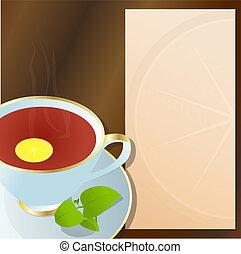 tea., 黒, カップ