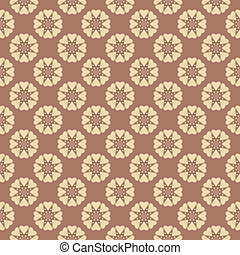 Tea abstract vector seamless patterns (tiling, swatch)