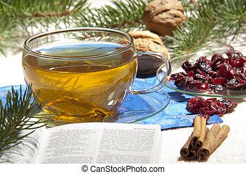tea and holy bible