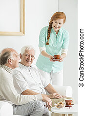 Tea at nursing home