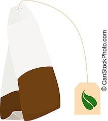 tea bag disposable vector icon