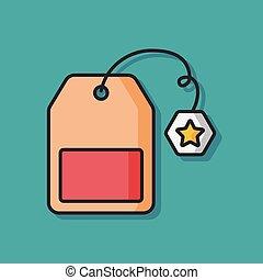tea bag vector icon