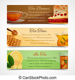 Tea banners set