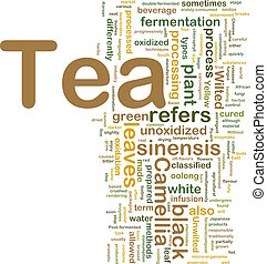 Tea beverage background concept