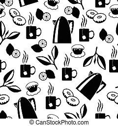 Tea break pattern seamless
