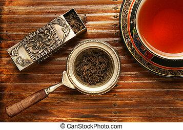 Tea breakfast scene. More in gallery
