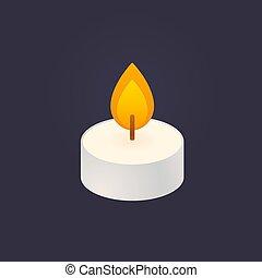 Tea candle icon