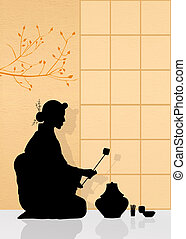 Tea ceremony - illustration of tea ceremony