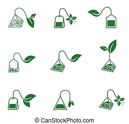 Tea ceremony. Vector icons on a white background.