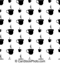 Tea Coffee Cup Seamless Pattern