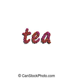 tea create by red color flowers white background