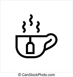 Tea Cup And Tea Bag Icon