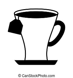 tea cup beverage isolated icon