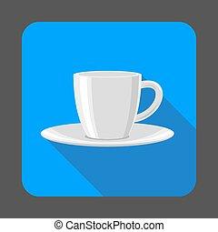 Tea cup concept background, cartoon style