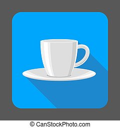 Tea cup concept background, cartoon style