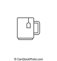 Tea cup drink vector icon isolated on white background
