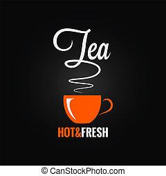 tea cup flavor design background