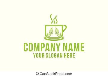 tea cup healthy logo design inspiration