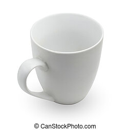 tea cup on white