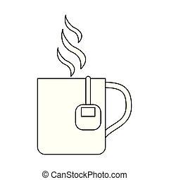 Tea cup with bag