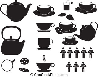 Tea cups and objects