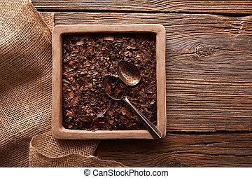 tea, erdő, bancha, struktúra