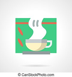 Tea for colds flat color vector icon