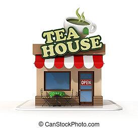 Tea house 3d rendering