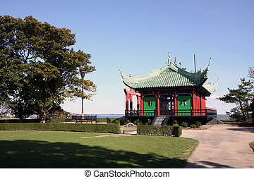 Tea house in Newport, Rhode Island