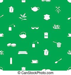 tea icons pattern eps10