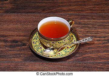 Tea in a beautiful cup