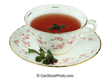 Tea in an Antique Tea Cup