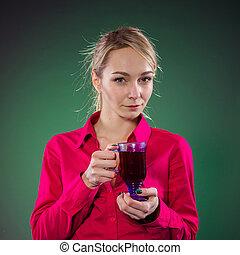tea, ivás, nő, betegség, beteg