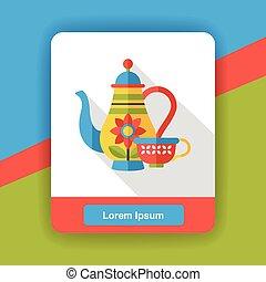 tea kettle flat icon