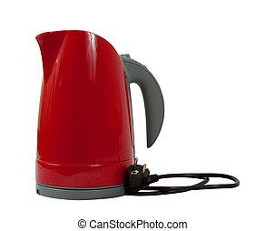 tea kettle on white background