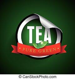 Tea label vector sticker