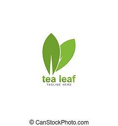 tea leaf logo vector icon illustration design