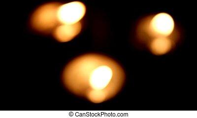 Tea Light Candles - blurred