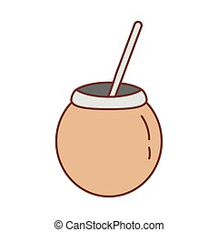 tea mate fill style icon vector illustration design