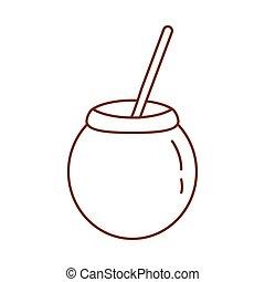 tea mate line style icon vector illustration design